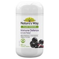Nature's Way Plant Wisdom Immune Defence 60 Tablets