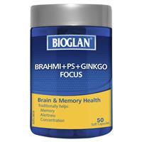 Bioglan Brahmi + PS + Ginkgo Focus 50 Capsules