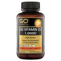 GO Healthy Vitamin D3 1000IU 150 Softgel Capsules