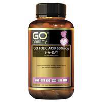 GO Healthy Folic Acid 500mcg 1-a-day 120 Vege Capsules Exclusive Size