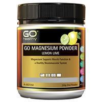 GO Healthy Magnesium Powder Lemon Lime 250g