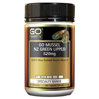 GO Healthy GO Mussel NZ Green Lipped Mussel 520mg 180 Capsules