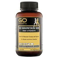 GO Healthy Magnesium 800 120 Vege Capsules