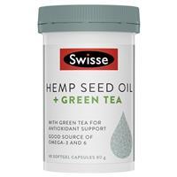Swisse Hemp Seed Oil + Green Tea 60 Capsules