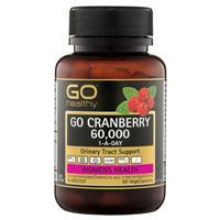 GO Healthy Cranberry 60000+ 60 Vege Capsules