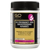 GO Healthy Pregnancy and Breastfeeding Advance 180 Capsules