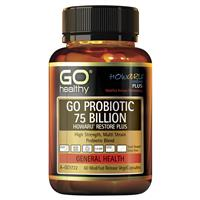 GO Healthy Probiotic Support 75 Billion 60 Vege Capsules