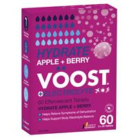 Voost Hydrate Apple + Berry Effervescent Tablets 60 Pack Exclusive Size