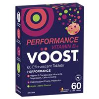 Voost Vitamin B+ Apple + Berry Performance Effervescent 60 Tablets Exclusive Size