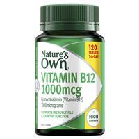 Nature's Own Vitamin B12 1000mcg – Vitamin B – 120 Tablets Exclusive Size