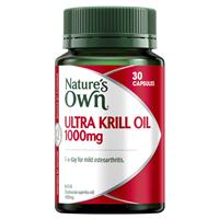 Nature's Own Ultra Krill Oil 1000mg – Source of Omega-3 – 30 Capsules