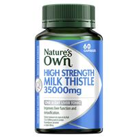 Nature's Own High Strength Milk Thistle 35000mg 60 Capsules