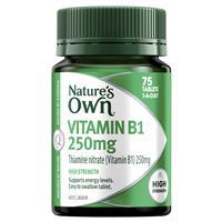 Nature's Own Vitamin B1 250mg – Vitamin B – 75 Tablets