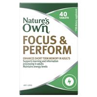 Nature's Own Focus & Perform 40 Tablets