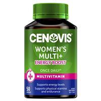 Cenovis Women's Multi + Energy Boost – Once-Daily Multivitamin – 50 Capsules