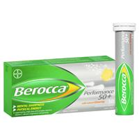 Berocca 50+ Energy Vitamin With Ginseng Effervescent Tablets 30 pack
