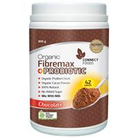 Connect Foods Fibremax + Probiotic Chocolate 50 Doses 300g Exclusive Size