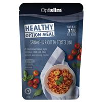 Optislim Healthy Option Meal Spinach and Ricotta Tortellini 300g New