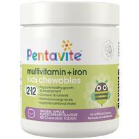 Pentavite Multivitamin + Iron Kids 60 Chewable Tablets