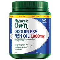 Nature's Own Odourless Fish Oil 1000mg 500 Capsules Exclusive Size