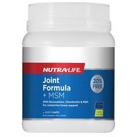 Nutra-Life Joint Formula + Msm Lemon 1.2Kg Exclusive Size