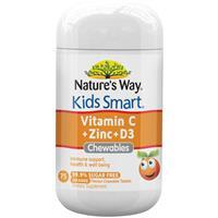 Nature's Way Kids Smart Vitamin C + Zinc + D 75 Chewable Tablets