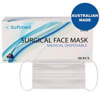 Softmed Surgical Face Masks 50 Pack Australian Made