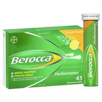 Berocca Performance Orange 45 Effervescent Tablets