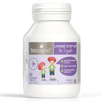 Bio Island Lysine Step Up for Youth 60 Chewable tablets