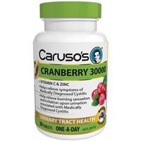 Carusos Natural Health Ultra Max Cranberry 30000 30 Tablets