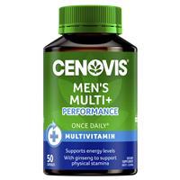 Cenovis Men's Multi + Performance – Once-Daily Multivitamin – 50 Capsules