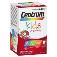 Centrum Kids Multi Vitamin 60 Strawberry Tablets