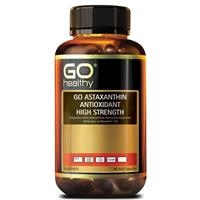 GO Healthy Astaxanthin Antioxidant High Strength 90 Soft Capsules Exclusive Size