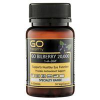GO Healthy Bilberry 20000mg 30 Vege Capsules