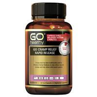 GO Healthy Cramp Relief Rapid Release 60 Vege Capsules Exclusive Size