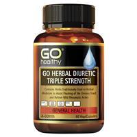 GO Healthy Herbal Diuretic Triple Strength 60 Vege Capsules