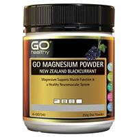 GO Healthy Magnesium Powder New Zealand Blackcurrant 250g