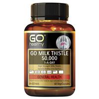 GO Healthy Milk Thistle 50000mg 1-A-Day 60 Vege Capsules