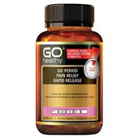 Go Healthy Period Pain Relief Rapid Release 60 Vege Capsules Exclusive Size