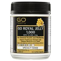 GO Healthy Royal Jelly 1000mg 10 HDA 12mg 180 Capsules