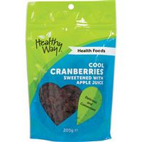 Healthy Way Cool Cranberries Sweetened with Apple Juice 200g