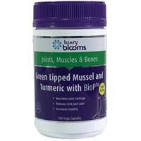 Henry Blooms Green Lipped Mussel 500mg With Turmeric 1500mg 100 Vege Capsules