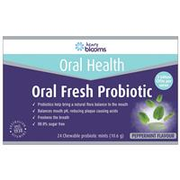 Henry Blooms Oral Fresh Probiotic 24 Chewable Mint Tablets