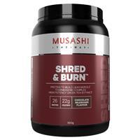 Musashi Shred And Burn Chocolate 900g