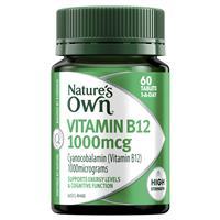 Nature's Own Vitamin B12 1000mcg – Vitamin B – 60 Tablets