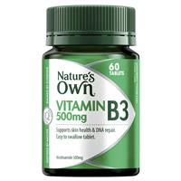 Nature's Own Vitamin B3 500mg – Vitamin B – 60 Tablets