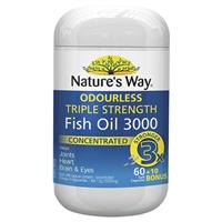 Nature's Way Advanced Omega Triple Strength Fish Oil 60 Capsules