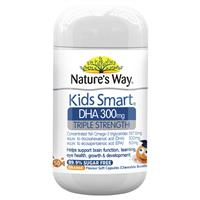 Nature's Way Kids Smart DHA 300mg Triple Strength 50 Soft Capsules