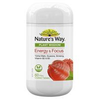 Nature's Way Plant Wisdom Energy & Focus 60 Tablets