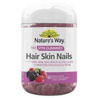 Nature's Way Vita Gummies Adult Hair Skin Nail 60 Gummies